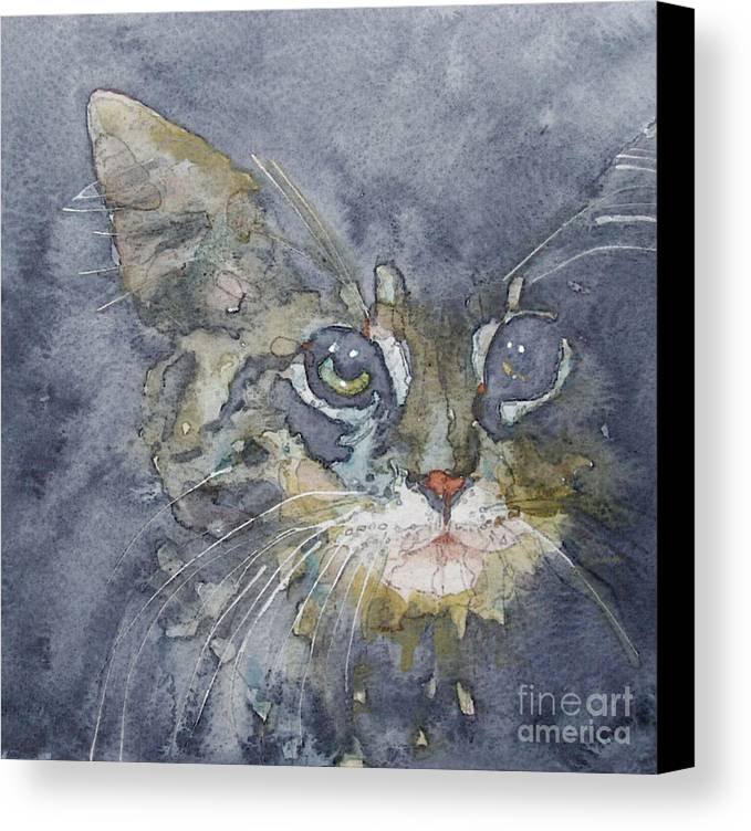 Tabby Canvas Print featuring the painting Out The Blue You Came To Me by Paul Lovering