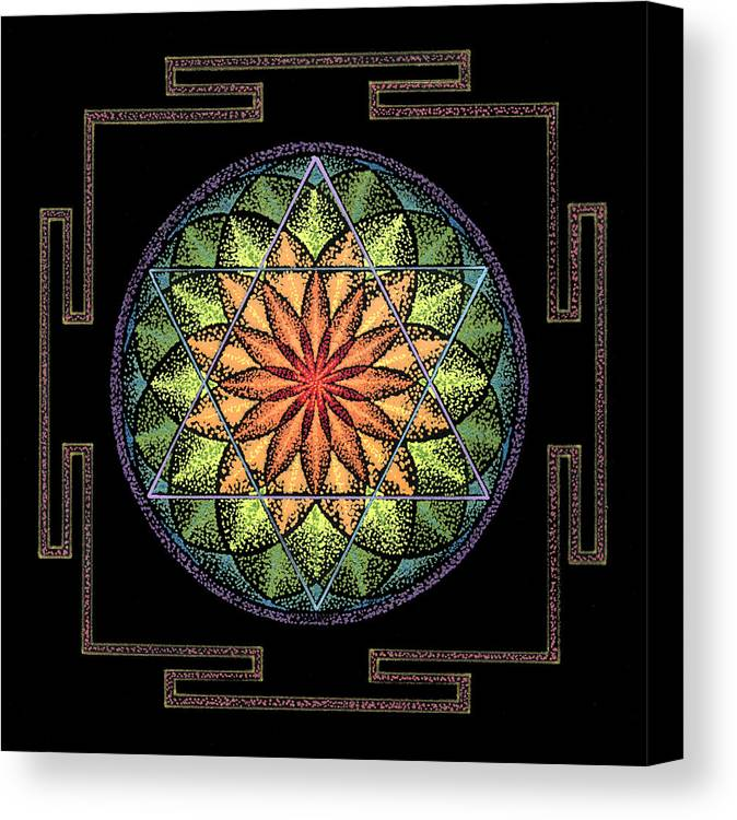 Healing Mandala Canvas Print featuring the painting Prosperity by Keiko Katsuta