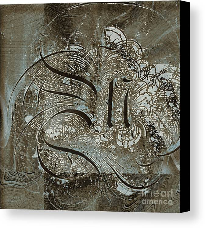 Canvas Print featuring the mixed media Q by Yanni Theodorou