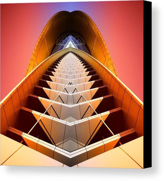 Abstract Canvas Print featuring the photograph Red Shift by Wayne Sherriff