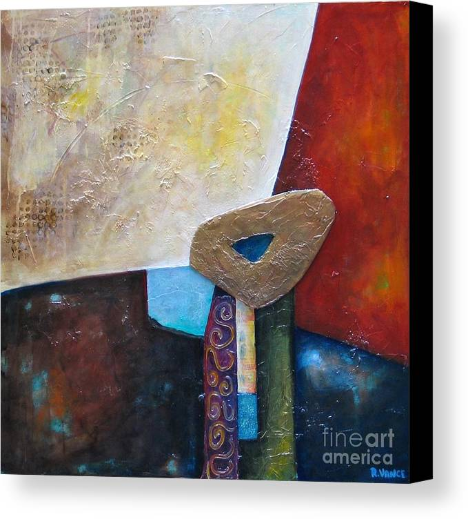Mixed Media Canvas Print featuring the painting Routine Maintenance by Roy Vance