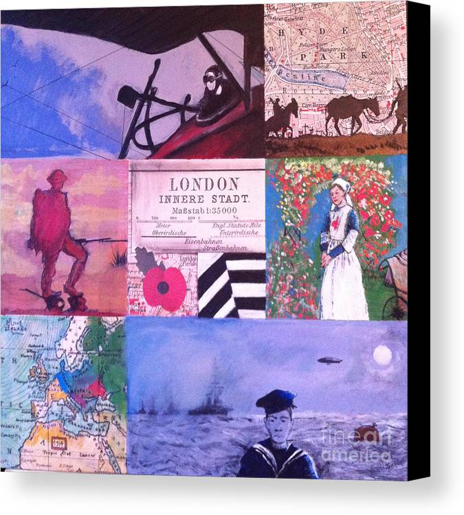 War Canvas Print featuring the painting Selfless Sacrifice by Michelle Deyna-Hayward