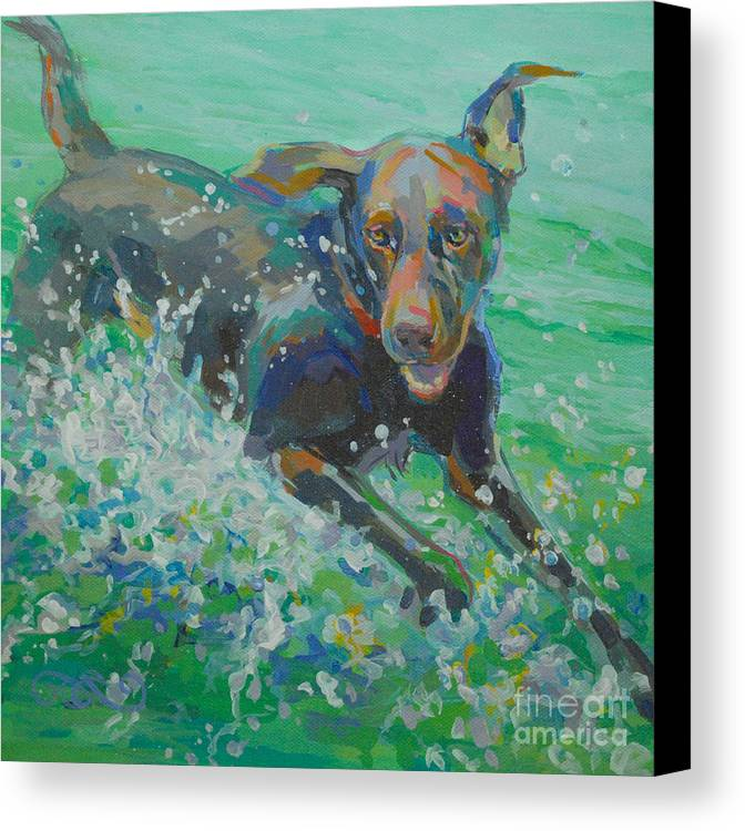 Water Dog Canvas Print featuring the painting Silly Goose by Kimberly Santini