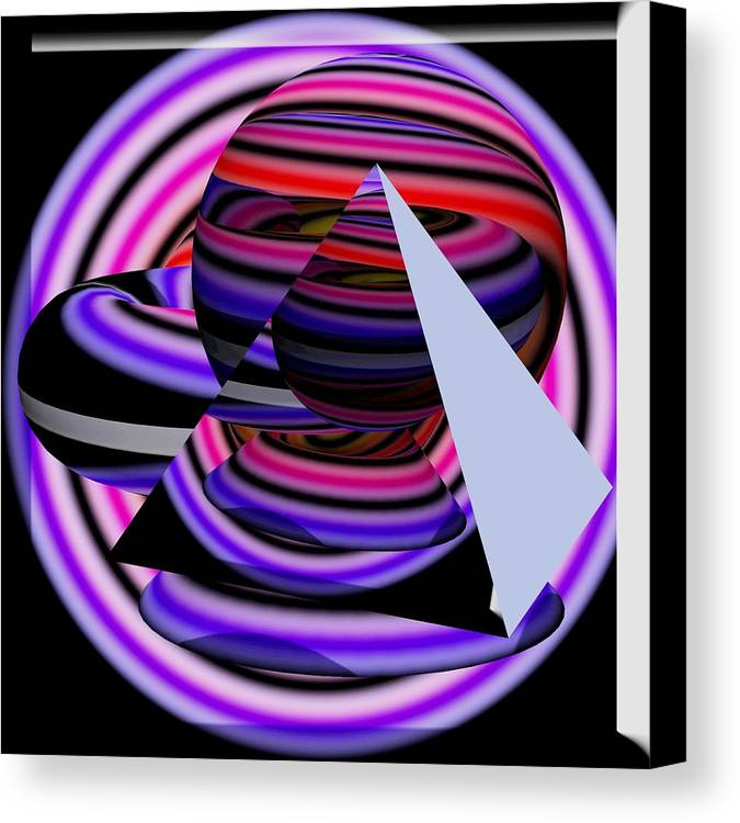 Abstract Art Canvas Print featuring the painting Univers Colors And Shapes by Costinel Floricel