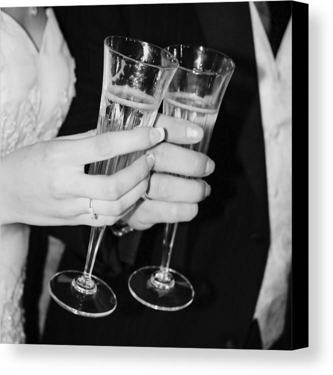 Champagne Canvas Print featuring the photograph Wedding Toast by Valerie Loop