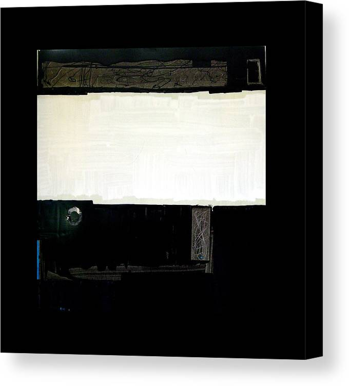 Landscape Canvas Print featuring the painting Westside Harbour Black Study I by Mark Fearn