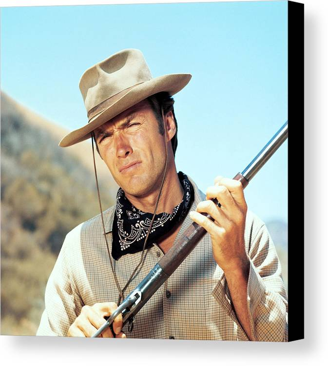 1950s Tv Canvas Print featuring the photograph Rawhide, Clint Eastwood, 1959-66 by Everett