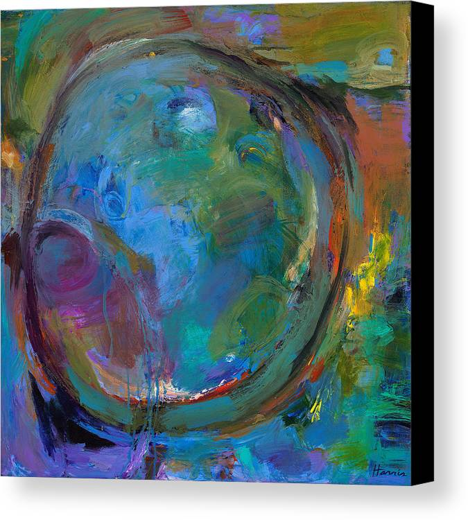 Abstract Expressionistic Canvas Print featuring the painting Back To Forgotten Times by Johnathan Harris