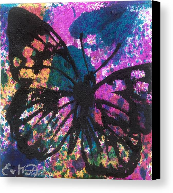 Art Canvas Print featuring the painting Butterfly Bliss by Oddball Art Co by Lizzy Love