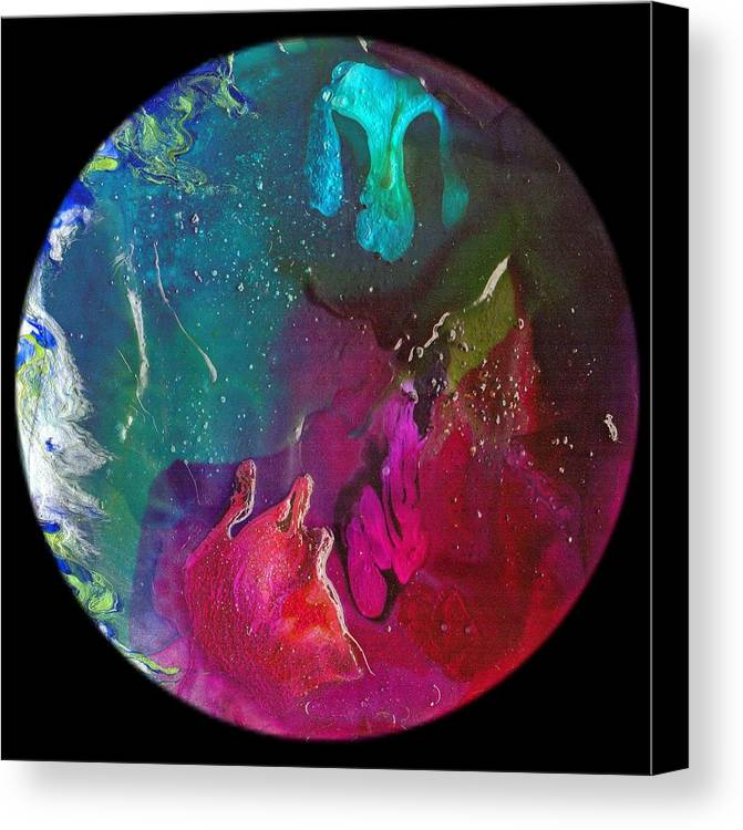 Abstract Canvas Print featuring the painting Emergence #1222 by Dina Sierra