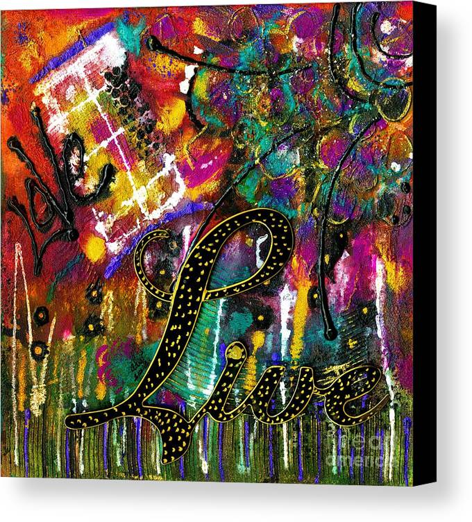 Acrylic Canvas Print featuring the mixed media Love Life by Angela L Walker