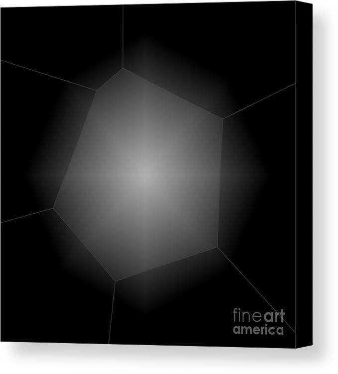 Abstract Canvas Print featuring the photograph Radiance - Abstract Art by Carol Groenen