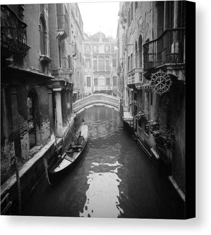 Architectural Canvas Print featuring the photograph Venice Canal by Emanuel Tanjala