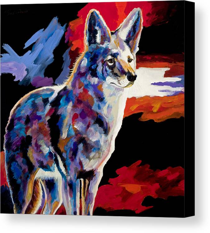 Wildlife Art Canvas Print featuring the painting Vigilant by Bob Coonts