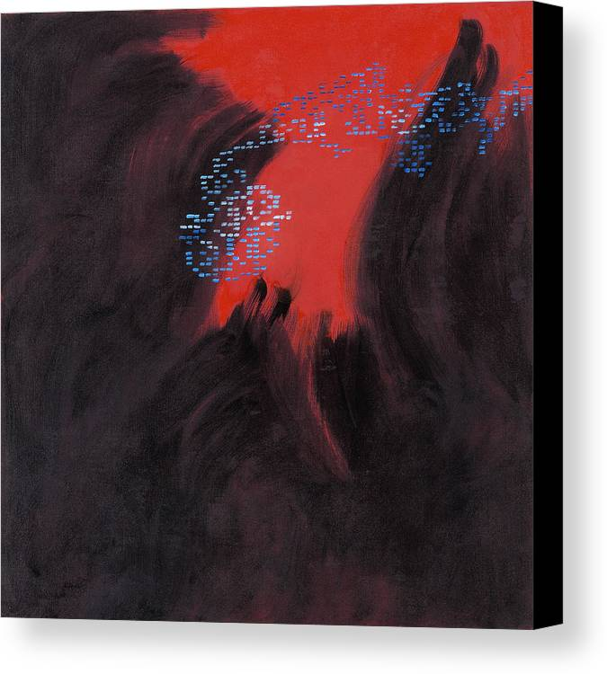 Abstract Canvas Print featuring the painting Fac7-volcano by Joan De Bot