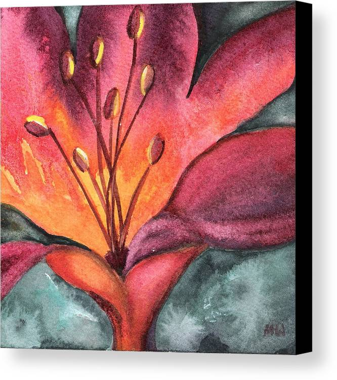 Lily Canvas Print featuring the painting Lily Blaze by Marsha Woods