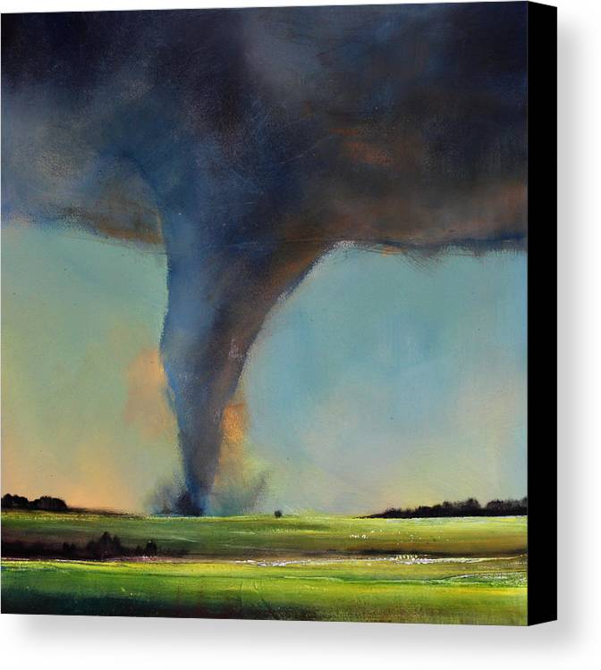 Grote Canvas Strandtas : Tornado on the move canvas print art by toni grote