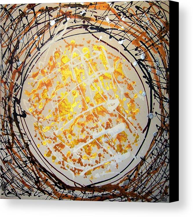 Circle Abstract Canvas Print featuring the painting The Eternal Circle by Baljit Chadha