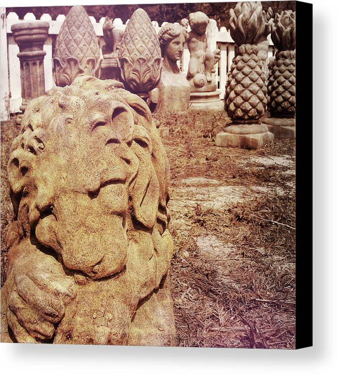 Sculpture Canvas Print featuring the photograph A Sleeping King by JAMART Photography