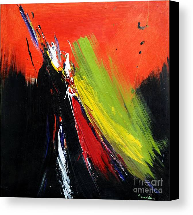 Abstract Canvas Print featuring the painting Abstract 2002 by Mario Zampedroni