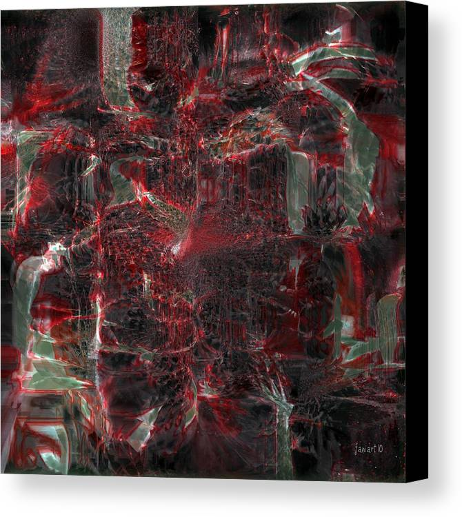 Fania Simon Canvas Print featuring the digital art All Five Senses Are Filled With The Arts by Fania Simon