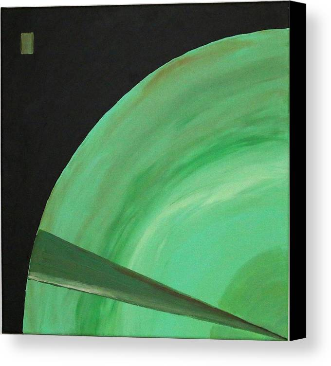 Landscape Canvas Print featuring the painting Aquifer # 14 by Jonathan Perlstein