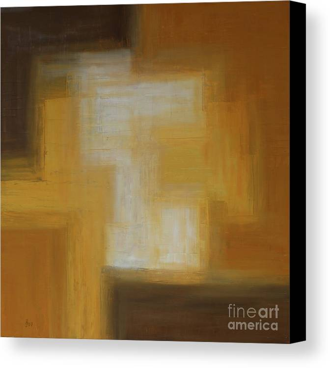 Colors Canvas Print featuring the painting Brown Yellow Abstract by Christiane Schulze Art And Photography
