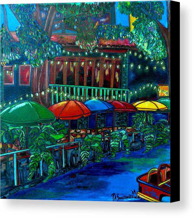 San Antonio Canvas Print featuring the painting Casa Rio by Patti Schermerhorn