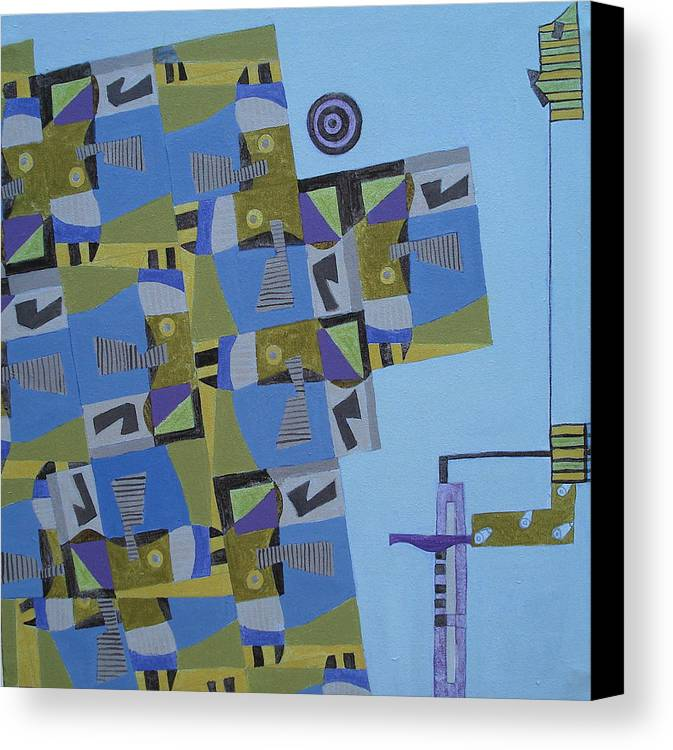 Abstract Art Canvas Print featuring the painting Composition Xi-07 by Maria Parmo