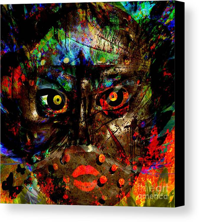 Fania Simon Canvas Print featuring the digital art Dear God - How Are You - Thank You For Bringing Me Through by Fania Simon