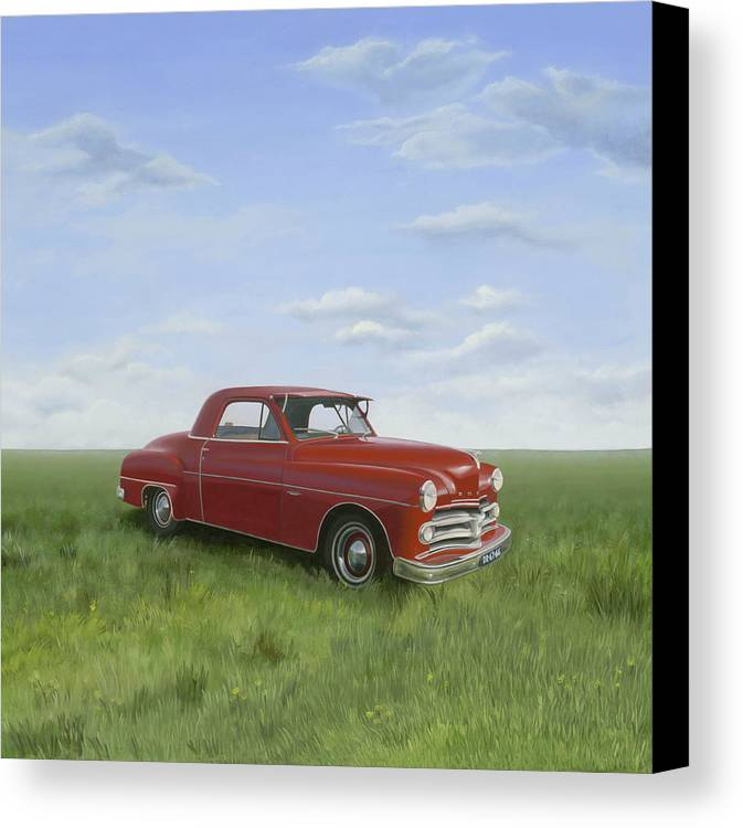 Classic Canvas Print featuring the painting Dodge by Patricia Van Lubeck