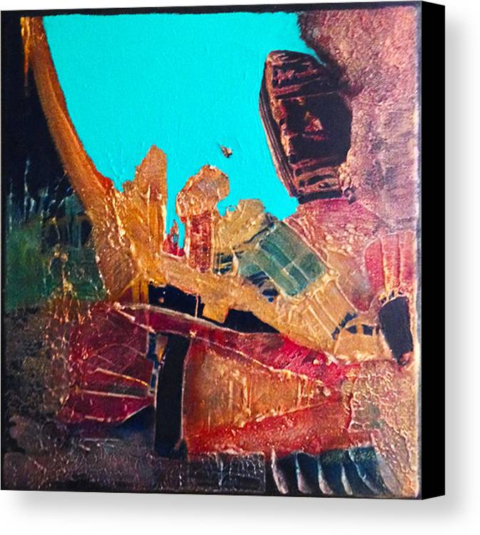 Abstract Expressionist Canvas Print featuring the painting Drummer Boy by Terry Hardin