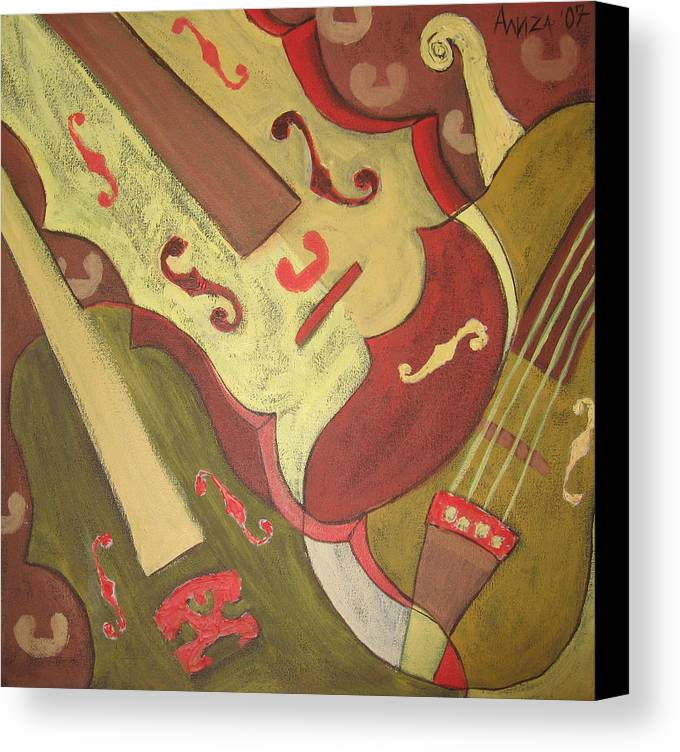 Violin Canvas Print featuring the painting Endless Music by Aliza Souleyeva-Alexander