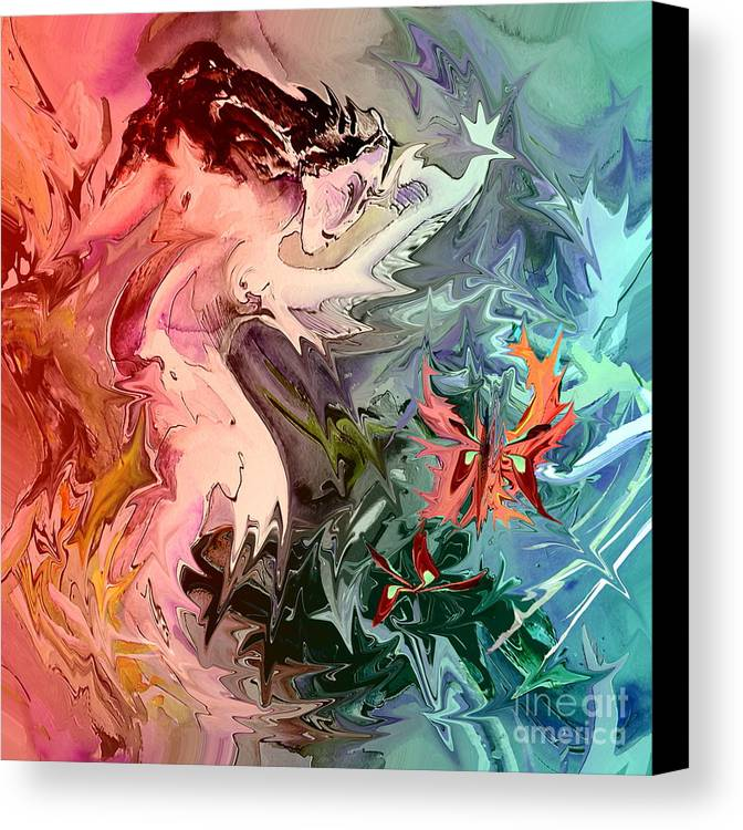 Miki Canvas Print featuring the painting Eroscape 08 1 by Miki De Goodaboom