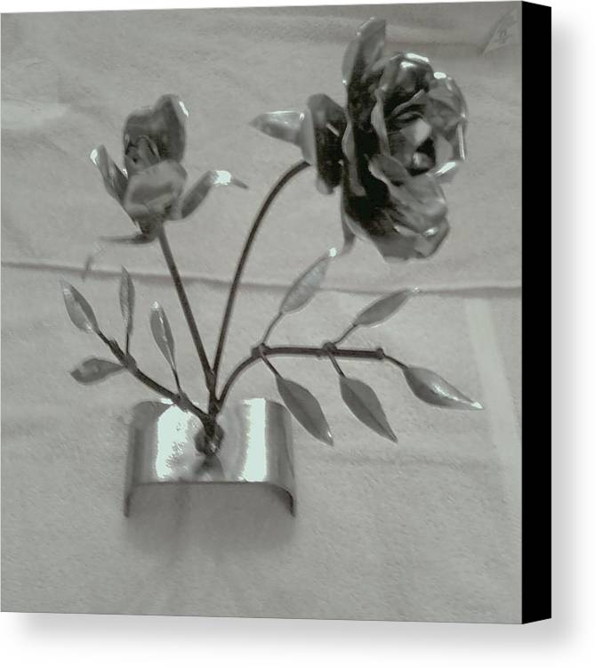 Rose Canvas Print featuring the mixed media Eternal Rose by Jeff Orebaugh