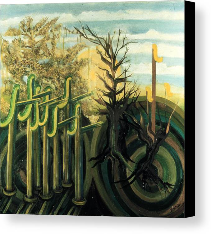 Fantastic Forest  Canvas Print featuring the painting Fantastic Forest by Ione Citrin