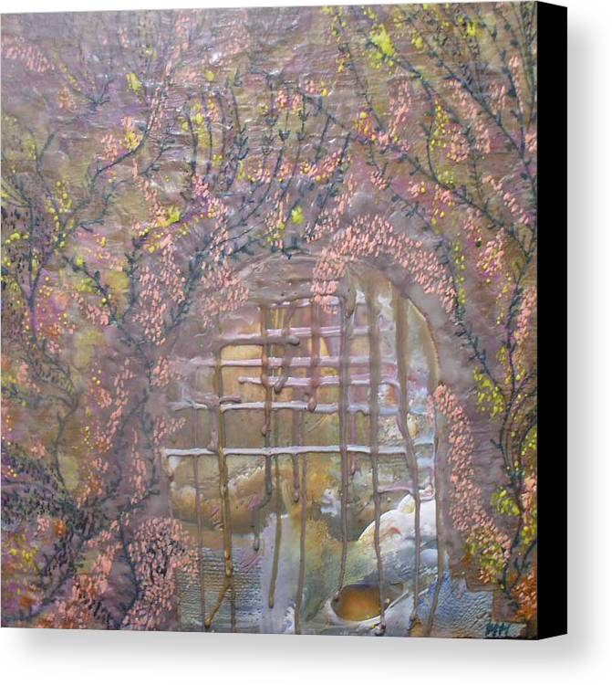 Encaustic Canvas Print featuring the painting Gateway To Positive Change by Heather Hennick