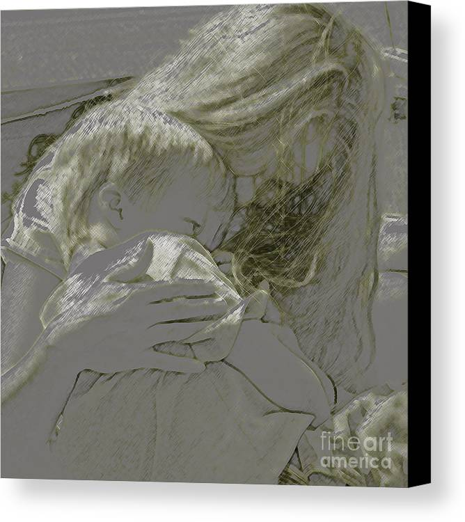 Child Canvas Print featuring the photograph Golden by Gary Everson