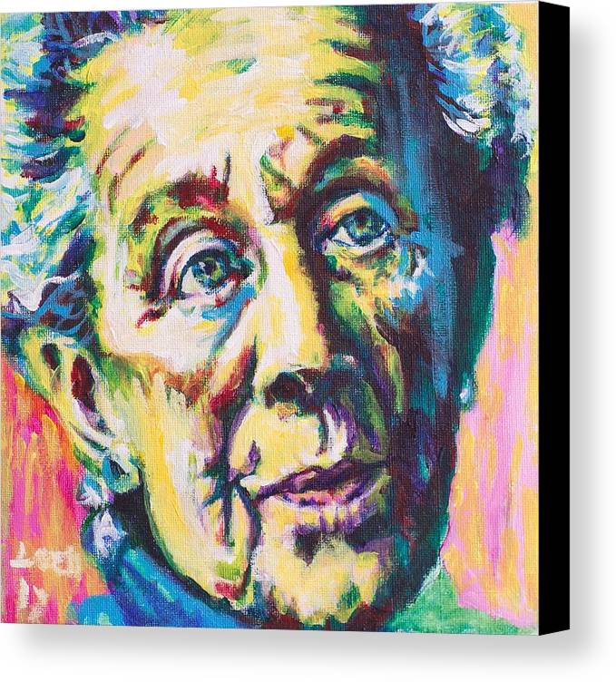 Helen Suzman Canvas Print featuring the painting Helen by Larry Ger