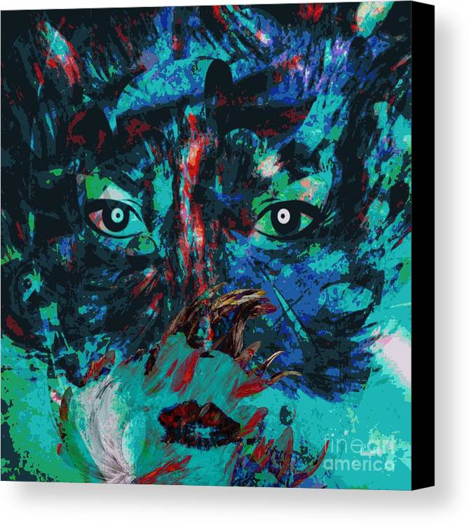 Fania Simon Canvas Print featuring the painting Hidding - The Psychology Of Art by Fania Simon