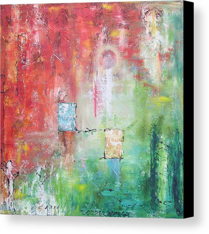 Abstract Painting Canvas Print featuring the painting Illumination by Frederic Payet