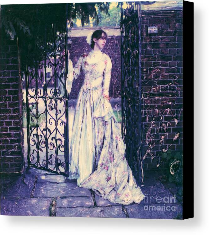 Polaroid Canvas Print featuring the photograph In The Doorway... by Steven Godfrey