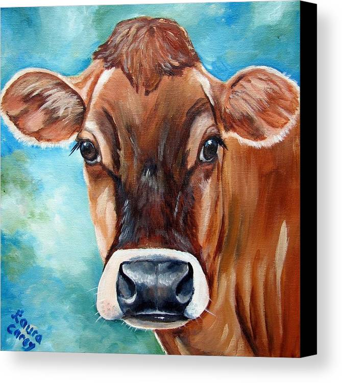 Jersey Canvas Print featuring the painting Jersey Girl by Laura Carey
