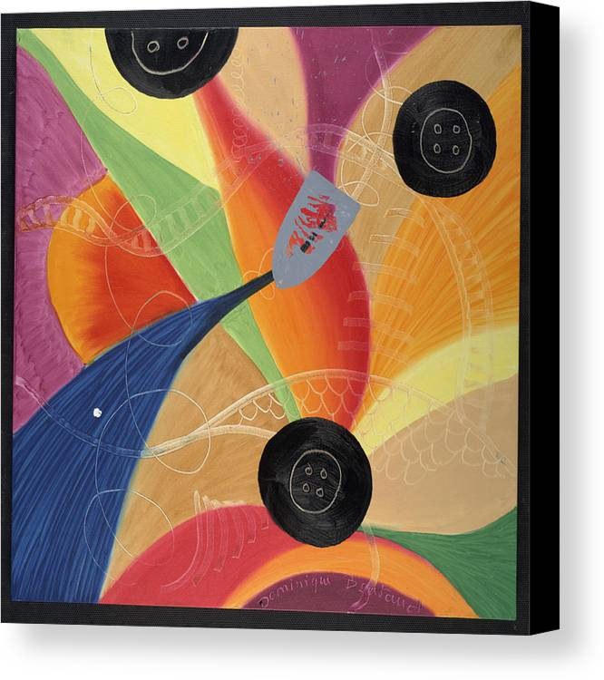 Abstract Canvas Print featuring the painting Le Fer Et Les Boutons by Dominique Boutaud