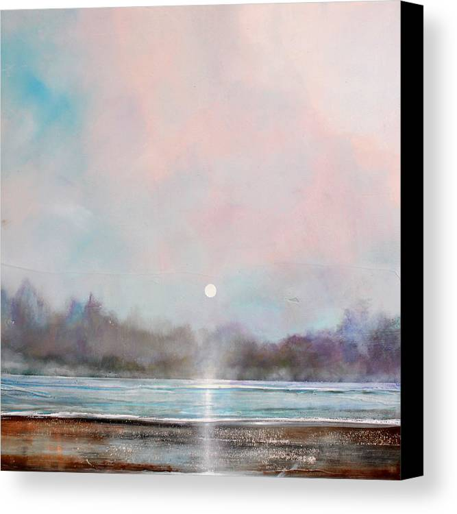 Grote Canvas Strandtas : Misty lake canvas print art by toni grote