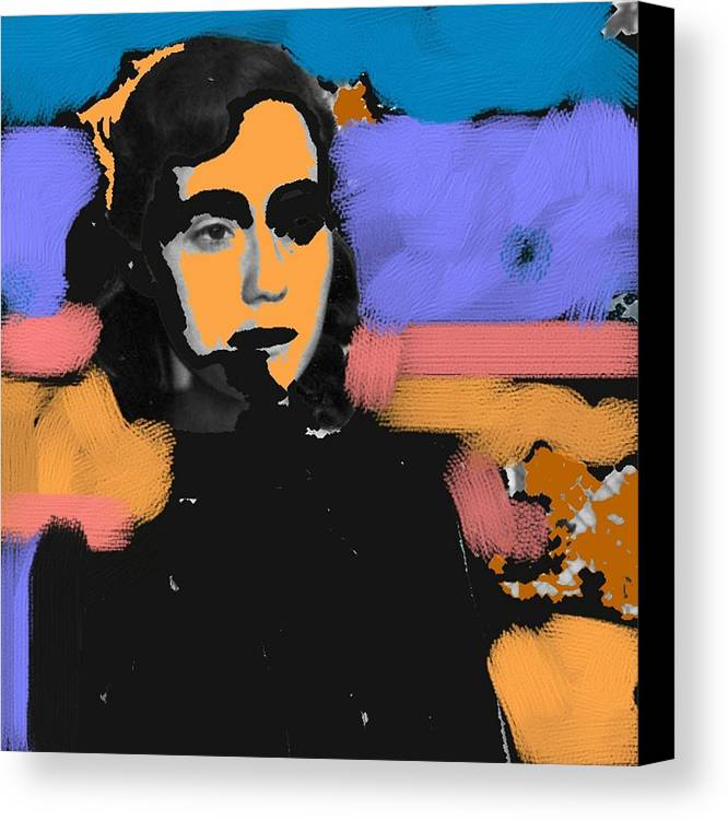 Figurative Canvas Print featuring the photograph Misty Woman by Paul Freidin