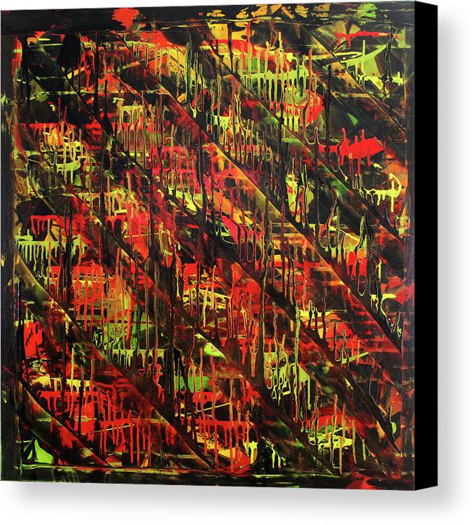 Abstract Canvas Print featuring the painting Organic by Tina Law