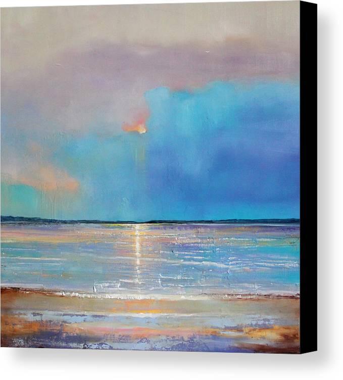 Grote Canvas Strandtas : Peace beach canvas print art by toni grote