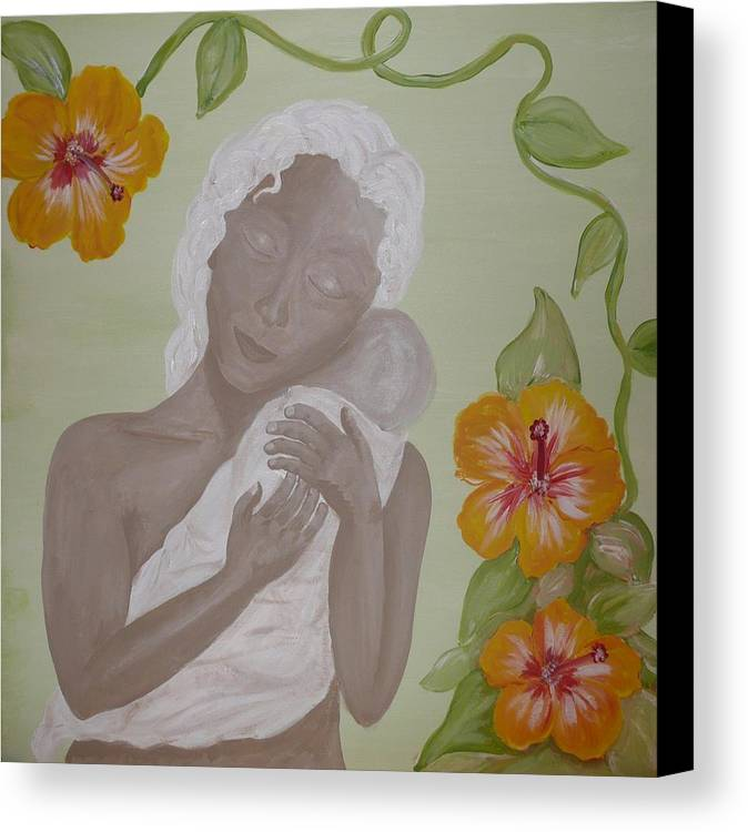 Mother Canvas Print featuring the painting Precious Time by Jennifer Hernandez