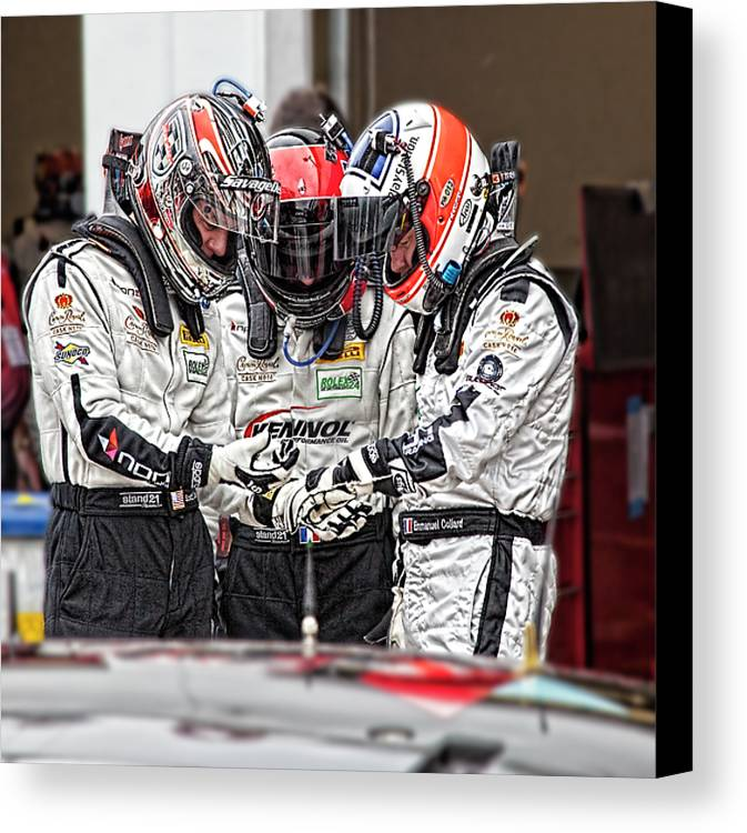 Race Canvas Print featuring the photograph Racers by Bill Linhares
